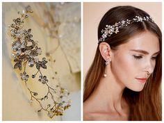 Nature-inspired hair vine, Glamour headpiece von Glamour BrautNYC auf DaWanda.com