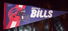 "Rare Vintage 1970s NFL Football Pennant Buffalo Bills 28"" Long please retweet"