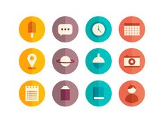 Dribbble - Icons WIP by Loz Ives