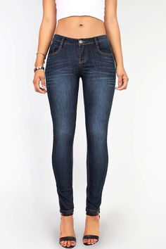 Precision Fit Low-Rise Skinny Jeans