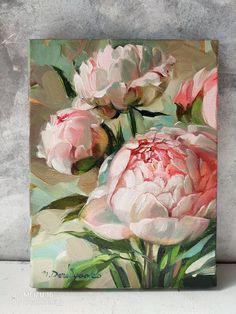 Flower Painting Discover Peonies painting original Peony wall art Peony painting Flowers art canvas painting Small paintings on canvas Peony Drawing, Acrylic Painting Flowers, Oil Painting Flowers, Oil Painting Abstract, Watercolor Flowers, Painting Clouds, Easy Watercolor, Flower Canvas Art, Flower Art