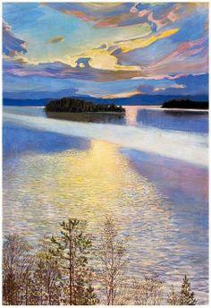 Lac Keitele en hiver Akseli Gallen-Kallela - 1901 Ateneum Art Museum, Helsinki