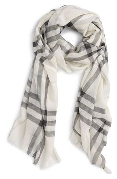 For moms who seem to have everything, this Burberry scarf would make a fabulous gift! / @nordstrom