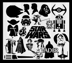 Star wars svg files for silhouette cameo. star wars svg files for cricut explore. Star wars clipart for papercutting or papercraft. Cuttable files are vector designs. Silhouette Images, Silhouette Portrait, Silhouette Design, Star Wars Silhouette, Kirigami, Inkscape Tutorials, Star Wars Crafts, Stencils, Cricut Explore Air
