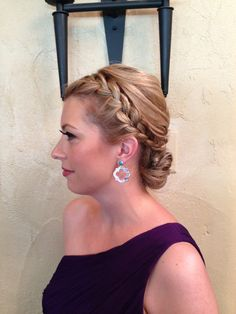 Braided updo.  Wedding hair.  Bridesmaid hair.