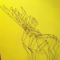 Un cerf en format XL #nanalapointe#creatrice#handmade#toulouse#cerf#fluo#deco