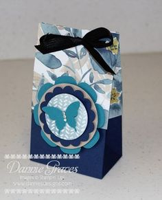 Stampin' Up! bag made using the Gift Bag punch board. I also made a video tutorial on how to make this!