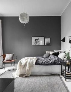 Comfy Minimalist Bedroom Design and Decor Ideas. minimalist bedroom diy Click image to read more details. Grey Bedroom Colors, Grey Bedroom Paint, Grey Room, Master Bedroom Design, White Bedroom, Grey Bedrooms, Gray Paint, Cozy Bedroom, Bedroom Designs