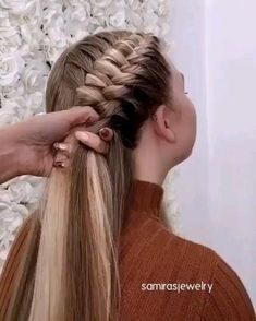 Braided Hairstyles Updo, Easy Hairstyles For Long Hair, Braids For Long Hair, Braids For Girls, French Plait Hairstyles, Different Braid Hairstyles, Elvish Hairstyles, Wild Hairstyles, Fun Braids
