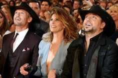 Tim McGraw, Faith Hill, Jason Aldean attend the 49th Annual Academy Of Country Music Awards at the MGM Grand Garden Arena on April 6, 2014 in Las Vegas, Nevada.