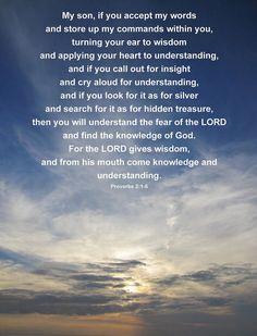 Seek the wisdom of God