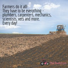 To our multi-tasking farmers out there!