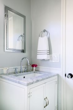How to create a trendy bathroom! http://www.stylemepretty.com/living/2017/01/11/designer-secrets-to-a-beautifully-styled-bathroom/ Photography: Mary Costa - http://marycostaphotography.com/