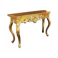 M-58 faragványos konzolasztal arany színben. Kiváló minőségű fából készült, stílusos lábakon, fiókkal. Tökéletesen illeszkedik stilizált és modern helységekbe. Vanity Bench, Entryway Tables, Modern, Furniture, Home Decor, Trendy Tree, Decoration Home, Room Decor, Home Furnishings