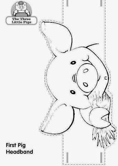 Animal Coloring Pages, Coloring Pages For Kids, Craft Activities For Kids, Preschool Crafts, Nativity Costumes, Pig Mask, Pig Crafts, Three Little Pigs, Animal Masks