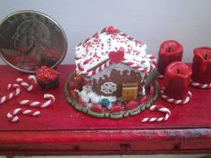 Dollhouse Miniature Gingerbread house by by CSpykersMiniatures, $14.00