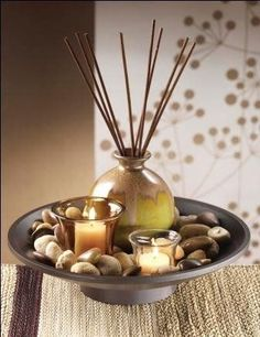 I love my home to smell wonderful, warm and welcoming for my guests, clean and fresh in my bathroom - and romantic, even seductive in the bedroom! But I don't want to fill my home with synthetic chemicals either! That's why I was so pleased to find this great site with so much information and advice on choosing Reed Diffusers that use natural, essential oils to gently create the right ambiance in any room. There are some great suggestions for what works best in which room too!
