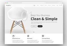 Kleanity is an intuitive and responsive wordpress minimalist creative multipurpose website theme. this theme is also an easy-to-use toolkit for building Simple Wordpress Themes, Minimalist Wordpress Themes, Modern Website, Simple Website, Minimalist Web Design, Website Themes, Website Styles, Website Designs, Design Digital