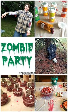 Zombie Party Ideas...decorations, games, food, and everything else you need to create the most epic Hallowe'en or birthday party ever!