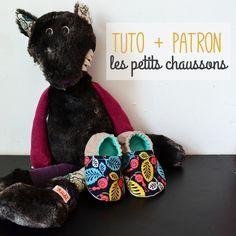 Petit tuto gratuit pour réaliser une paire de chaussons pour bébé ! So cute ! #DIY #baby