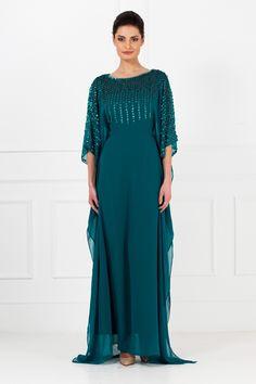 Cheap Hunter Green Chiffon Arabic Wedding Evening Dresses Dubai Morrocan KAFTANS Abaya Ladies Maxi Long Sheath Column Gowns Plus Sizes