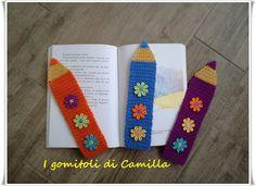 Realizziamo insieme questi coloratissimi segnalibri all' uncinetto, semplici e divertenti! Clicca sulla foto per il tutorial
