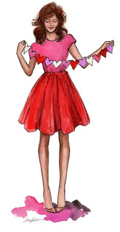 HAPPY VALENTINE'S DAY! (chain of hearts by Inslee Haynes)