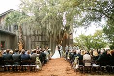 outdoor ceremony at Boone Hall Plantation | Courtney Dox #wedding