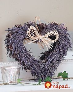 ** Personally selected products **: Lavanda in home . Lavender Crafts, Lavender Wreath, Lavender Flowers, Lavender Cottage, Lavender Fields, Lavender Garden, Malva, Make Pictures, Heart Wreath