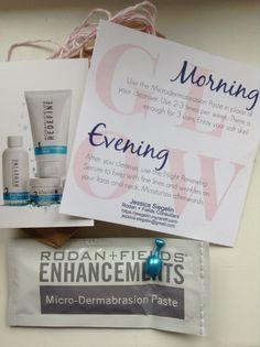 Rodan & Fields Mini Facial review & give away swallace870.myrandf.com