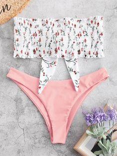 Shop trendy fashion swimwear online, you can get sexy bikinis, swimsuits & bathing suits for women on ZAFUL. Bikini Bandeau, Bikini Swimwear, Bikini Wax, High Leg Bikini, Push Up Bikini, Triangle Bikini, Summer Bathing Suits, Cute Bathing Suits, Cute Swimsuits