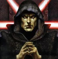 """Jan 10 = Darth Bane - Dark Lord of the Sith in the Darth Bane book series. He was responsible regaining the """"Rule of Two"""" that states there shall only ever be two Sith warriors at a time, a Master and an Apprentice, during the Old Republic. Darth Bane, Star Wars Sith, Star Wars Rpg, Star Trek, Jedi Sith, Sith Lord, Star Destroyer, Sith Warrior, Path Of Destruction"""