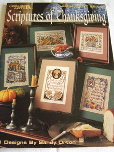 Scriptures of Thanksgiving Cross Stitch Pattern by SnuggeryStuff