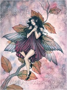 Fairy Fantasy Art Print by Molly Harrison 'What Dreams May Come' by MollyHarrisonArt on Etsy https://www.etsy.com/uk/listing/64649523/fairy-fantasy-art-print-by-molly