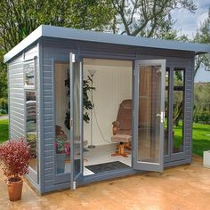 The Malvern Studio Pent garden office/summerhouse is available from GBC Group in a choice of timber finishes and a range of sizes. shed design shed diy shed ideas shed organization shed plans Shed Office, Backyard Office, Backyard Studio, Backyard Sheds, Backyard Landscaping, Garden Studio, Outdoor Office, Shed Design, Garden Design