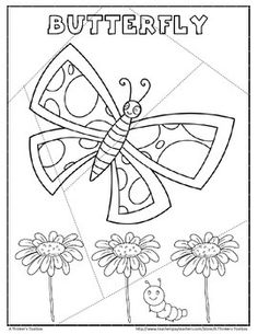 Butterfly Puzzle FREEBIE by A Thinker's Toolbox #printable