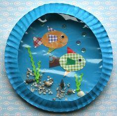 paper plate aquarium....a wonderful idea for ocean themes...