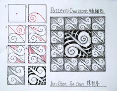Croissant Zentangle doodles how to Tangle: Pattern Tutorial #Tutorial #zentangle #tangle Zentangle Steps   ZenTangle Instructions /Steps /How To /Patterns / Tags: tangle zentangle zendoodle tanglepattern zentangleinspiredart
