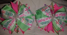 Set of 2 He is Risen Bows by GumpiegirlsGifts on Etsy