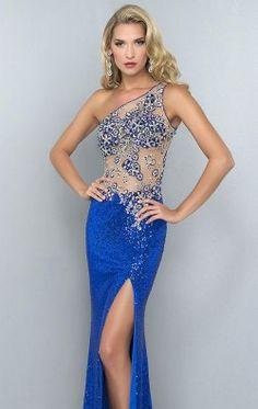 Asymmetrical Long Gown by Landa Designs Signature Pageant G901