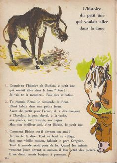 Manuels anciens: Tranchart, Bien lire et comprendre CP (1961) : grandes images French Classroom, French Words, French Lessons, Learn French, Education, Books, Learning French, French Tips, Libros