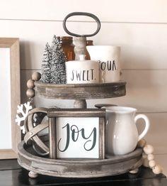 Items similar to MINI Joy sign on Etsy Modern Farmhouse Living Room Decor, Farmhouse Chic, Handmade Home Decor, Diy Home Decor, White Christmas, Christmas Diy, Joy Sign, Hot Cocoa Bar, Coffee Signs