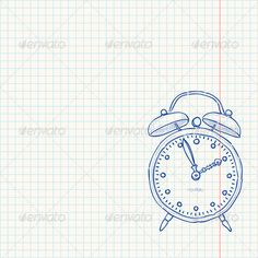 Alarm Clock Doodle #GraphicRiver Classic clock as a blue sketch on bright yellow paper. Download includes fully editable vector file. You can move objects around, change colors and scale any part of the graphics. Contains set of files: Illustrator AI format version CS5 (fully editable vector), EPS format version 10 (fully editable vector) and high resolution JPG format (flattened bitmap). Any vector parts in the download were converted into curves. Created: 21June13 GraphicsFilesIncluded…