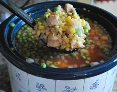 Everything but the kitchen sink Slow Cooker Chicken Soup  Betsylife