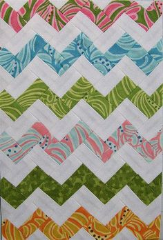 Zig Zag quilt without square triangels Quilting Projects, Quilting Designs, Sewing Projects, Quilting Ideas, Scrappy Quilts, Easy Quilts, Yo Yo Quilt, Homemade Quilts, Quilt Of Valor