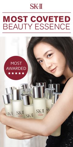 As SK-II's most awarded and best selling product, it's no wonder why our Facial Treatment Essence is so coveted. It replenishes the skin's moisture to help prevent dryness and helps smooth the skin's surface texture, leaving behind soft and radiant skin. This miracle product moderates the skin renewal cycle by penetrating through the skin better than a cream! Click to shop now.