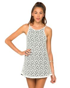Motel Gaia Strappy Dress in Black and White Spiral Lace, TopShop, ASOS, House of Fraser, Nasty gal