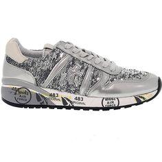 Premiata Sneakers (635 PLN) ❤ liked on Polyvore featuring shoes, sneakers, premiata shoes, leather sneakers, genuine leather shoes, premiata and sequin sneakers