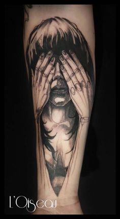 Fantastic tattoo design L'Oiseau