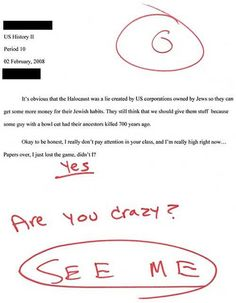 funny student papers